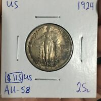 1924 25 CENT UNITED STATES MUST SEE  NO RESERVE  COIN 694