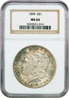 1890 $1 NGC MINT STATE 64 - MORGAN SILVER DOLLAR