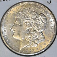 1921-D BU DETAILS BRILLIANT UNCIRCULATED/UNC MORGAN SILVER DOLLAR $1 COIN