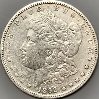 1892 S MORGAN SILVER DOLLAR EXTRA FINE  DETAILS SAN FRANCISCO MINT COIN BETTER DATE