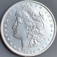1894 P MORGAN SILVER DOLLAR EXTRA FINE /AU DETAILS  KEY DATE COIN 110,000 MINTED