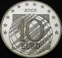 ITALY 10 EURO 2005R PROOF   SILVER   PEACE AND FREEDOM IN EU