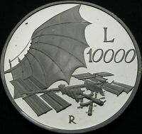 ITALY 10000 LIRE 2000R PROOF   SILVER   TOWARDS 2000: THE SK