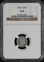 1832 CAPPED BUST HALF DIME NGC VG-8 -141313