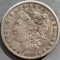 1884 S MORGAN SILVER DOLLAR EXTRA FINE  SOLID BETTER DATE SAN FRANCISCO MINT COIN
