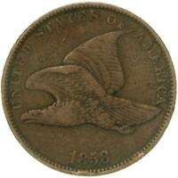 1858 FLYING EAGLE CENT SMALL LETTERS FINE PENNY FN SEE PHOTOS B730