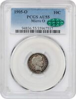1905-O 10C PCGS/CAC AU55 MICRO O UNDERRATED  VARIETY - BARBER DIME