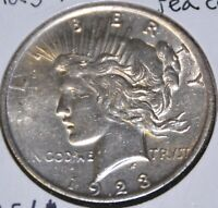 1923-P MS UNCIRCULATED/UNC  PEACE SILVER DOLLAR $1 COIN