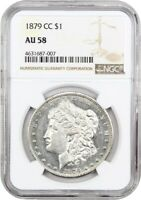 1879-CC $1 NGC AU58 - KEY DATE FROM CARSON CITY - MORGAN SILVER DOLLAR