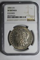 1896 S MORGAN SILVER DOLLAR EXTRA FINE  DETAILS  COIN IS AU 10 NGC