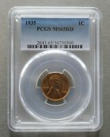 1935 D LINCOLN WHEAT CENT PENNY 1 CENT  PCGS CERTIFIED MINT STATE 65  RED