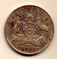 1921 SHILLING: A BEAUTIFUL  COIN  AND    NO  RESERVE