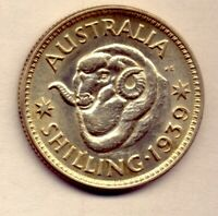 1939 SHILLING: A NICE  COIN  WITH LUSTRE    NO  RESERVE