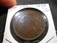 F87 CANADA 1858 LARGE CENT VF
