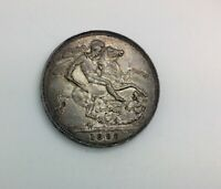 1898 LXI  VICTORIA OLD HEAD SILVER CROWN SOME LUSTRE TONED  NICE EXAMPLE