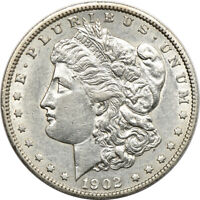 1902-S MORGAN DOLLAR, ABOUT UNCIRCULATED, S$1 C00046081