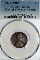 ONCE  1909-S VDB LINCOLN CENT THAT PCGS GRADED FINE DETAILS 38406919