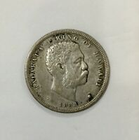 HAWAII 1883 HALF DOLLAR  FIFTY CENTS DECENT GRADE COIN OLD LIGHT CLEANING