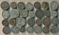 28 OLD EUROPE COINS  MOST 1700S TO 1800S  SWISS GERMAN & MOR