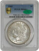 1903 MORGAN DOLLAR $ MINT STATE 66 SECURE PLUS PCGS  CAC  942051-2