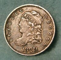 1829 CAPPED BUST SILVER HALF DIME XF DETAILS   US COIN