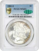 1882-S $1 PCGS/CAC MINT STATE 68 TIED FOR FINEST - MORGAN SILVER DOLLAR