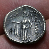 MACEDONIAN KINGDOM ALEXANDER THE GREAT SILVER DRACHM ATHENS
