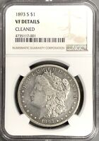 1893 S MORGAN SILVER DOLLAR  KEY DATE COIN NGC VF DETAILS
