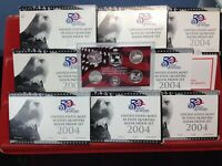8 SET LOT OF 2004 S SILVER QUARTER PROOF SETS ORIGINAL