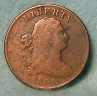 1800 DRAPED BUST HALF CENT FINE   US COIN