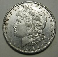 1896 MORGAN SILVER DOLLAR GRADING AU CLEANED PRICED TO MOVE SHIPPED FREE  E29