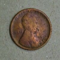 1916-D LINCOLN WHEAT CENT RB G-VG QUALITY  RG391