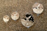 1999 MEXICO SILVER 4 COIN LIBERTAD PROOF SET   KEY DATE   60