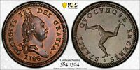 Y48 GREAT BRITAIN ISLE OF MAN 1786 PENNY PCGS MS 64 BROWN FINEST KNOWN POP:1/0