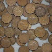 1937 LINCOLN WHEAT CENT ROLL 50 CIRCULATED PENNIES US COINS