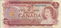 BANK OF CANADA 1974 BC 47A LAWSON BOUEY  RE6775598 $2 ASTERISK REPLACEMENT