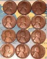 1916-D 1916-S DOZEN 12 LINCOLN WHEAT CENTS//FAST SHIPPING