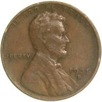 1935 D LINCOLN WHEAT CENT  FINE PENNY VF