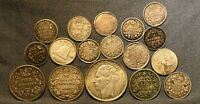 LOT OF  17  VINTAGE WORLD SILVER COINS