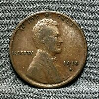 1914 D U.S. LINCOLN WHEAT CENT