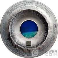 CHICXULUB CRATER METEORITES 3 OZ SILVER COIN 20$ COOK ISLAND