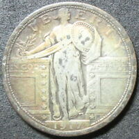 1917 TYPE 1 STANDING LIBERTY QUARTER COIN