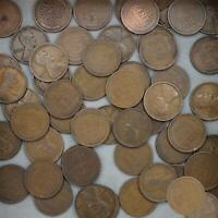 1910 LINCOLN WHEAT CENT ROLL 50 CIRCULATED PENNIES US COINS