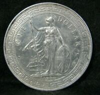 1900 GREAT BRITAIN UK ONE TRADE DOLLAR WORLD SILVER CROWN /