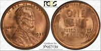 1922-D 1C PCGS MINT STATE 64RD LINCOLN CENT WHEAT CENT RED US COIN SOLID STRIKE TRUEVIEW