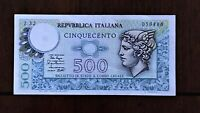 1979 ITALY 500 LIRE BANKNOTE PICK 94 SERIAL 059886