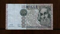 1982 ITALY 1000 LIRE BANKNOTE PICK 109A SERIAL 832703