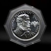 1966 NCS THOMAS JEFFERSON STERLING SILVER COIN-MEDAL 4137 [109DUD]