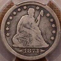 1873 S W/ARROWS LIBERTY SEATED QUARTER PCGS VG10 NICE COIN