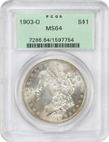 1903-O $1 PCGS MINT STATE 64 OGH OLD GREEN LABEL HOLDER - MORGAN SILVER DOLLAR